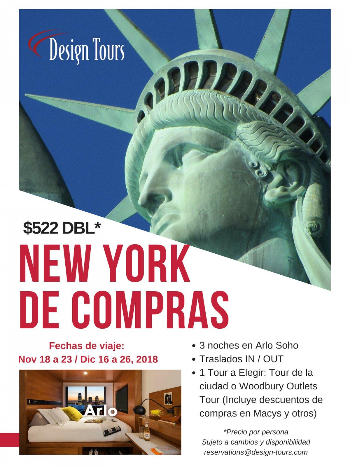 DE COMPRAS EN NEW YORK